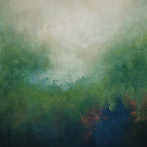 (CreativeWork) Morning Mist by Brigitte Ackland. arcylic-painting. Shop online at Bluethumb.