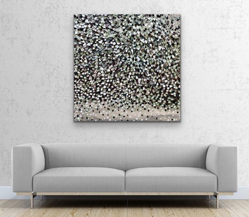 (CreativeWork) Moonlight Petals   by Theo Papathomas. oil-painting. Shop online at Bluethumb.