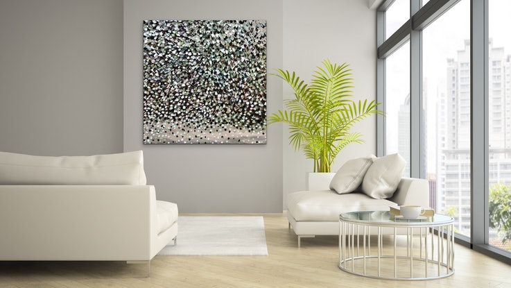 (CreativeWork) Moonlight Petals   by Theo Papathomas. Oil Paint. Shop online at Bluethumb.