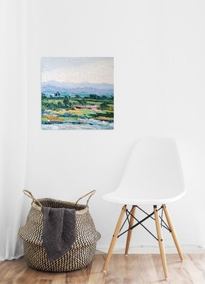 (CreativeWork) Mind And Heart Refined - Framed - Abstract Landscape  by Angela Hawkey. #<Filter:0x000055c8412f0210>. Shop online at Bluethumb.