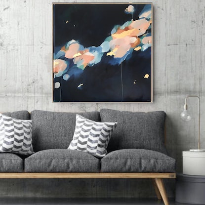 (CreativeWork) Confetti Clouds by Marnie McKnight. Mixed Media. Shop online at Bluethumb.