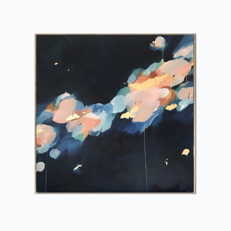 (CreativeWork) Confetti Clouds by Marnie McKnight. mixed-media. Shop online at Bluethumb.