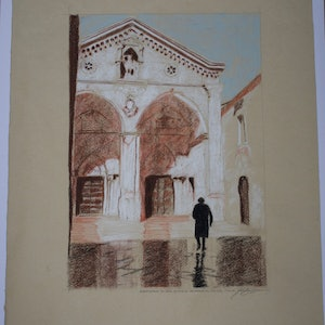 (CreativeWork) The Scantuary of St Michael the Archangel, Pulgia, Italy by John Barcham. Drawings. Shop online at Bluethumb.