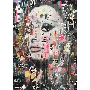 (CreativeWork) Street Icon 152 - Sophia Loren by Cold Ghost. mixed-media. Shop online at Bluethumb.