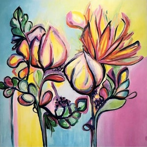 (CreativeWork) Banksia by Anne-Maree Wise. acrylic-painting. Shop online at Bluethumb.