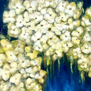 (CreativeWork) Pistachio & Lychee Sorbet Blooms by Lisa Wisse-Robinson. mixed-media. Shop online at Bluethumb.
