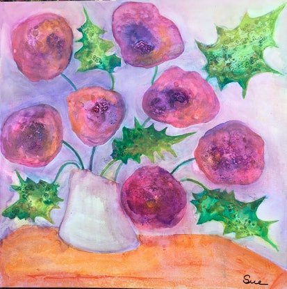 (CreativeWork) Bunches 4 by sue carter. Mixed Media. Shop online at Bluethumb.