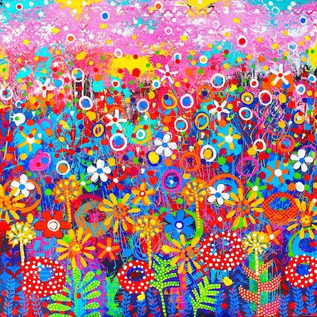 (CreativeWork) 'Amazon In Bloom' Original Painting  by Donna Sharam. Acrylic Paint. Shop online at Bluethumb.