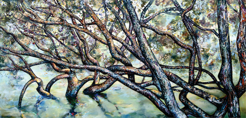 (CreativeWork) Mangrove Peace by Bronwyn Doherty. arcylic-painting. Shop online at Bluethumb.