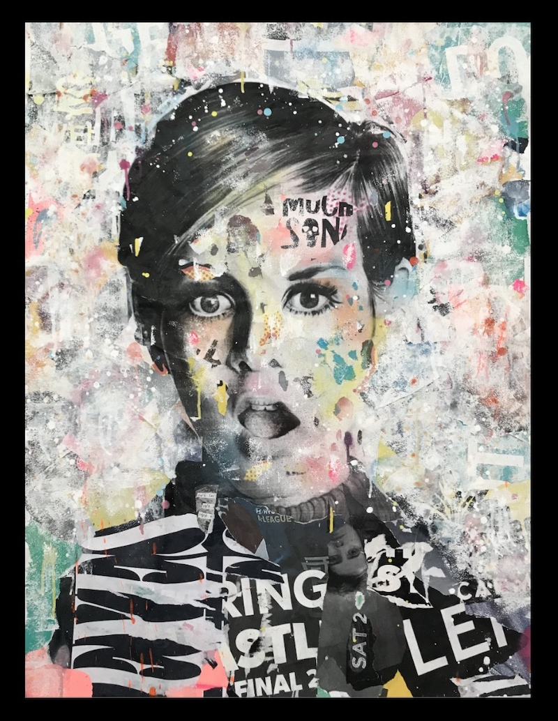 (CreativeWork) Street Icon 153 - Twiggy by Cold Ghost. Mixed Media. Shop online at Bluethumb.