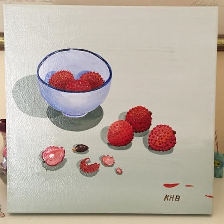 (CreativeWork) Lychee by Kay H Bowman. Acrylic Paint. Shop online at Bluethumb.