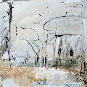 (CreativeWork) Australian Landscape by Maureen Finck. acrylic-painting. Shop online at Bluethumb.