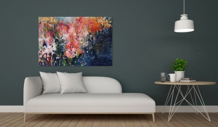 (CreativeWork) Impressionism - Blooming Beautiful by Maria Cross. Oil Paint. Shop online at Bluethumb.