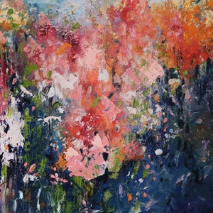 (CreativeWork) Impressionism - Blooming Beautiful by Maria Cross. oil-painting. Shop online at Bluethumb.