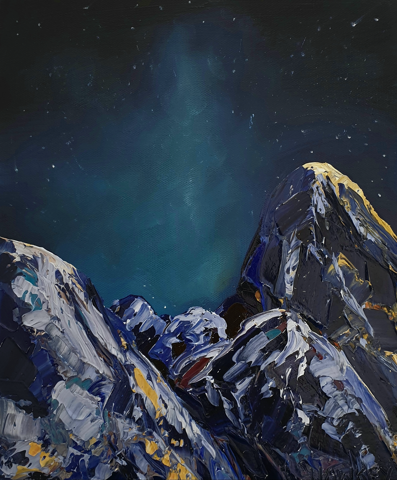 (CreativeWork) Night Vision - Landscape Painting by Angela Hawkey. Oil Paint. Shop online at Bluethumb.