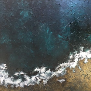(CreativeWork) Undiscovered Ocean Scene by Magdalena Knight. acrylic-painting. Shop online at Bluethumb.