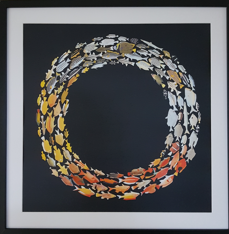 (CreativeWork) 'Swimming in Circles' - #1 by Karen Coull. Other Media. Shop online at Bluethumb.