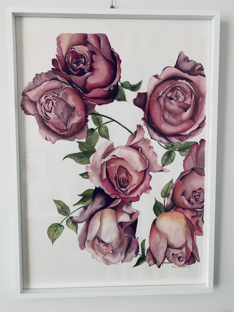 (CreativeWork) Rambling Rose by Julie Christensen. #<Filter:0x000055ff5a85dea0>. Shop online at Bluethumb.