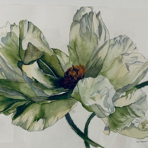 (CreativeWork) Springtime. by Julie Christensen. watercolour. Shop online at Bluethumb.