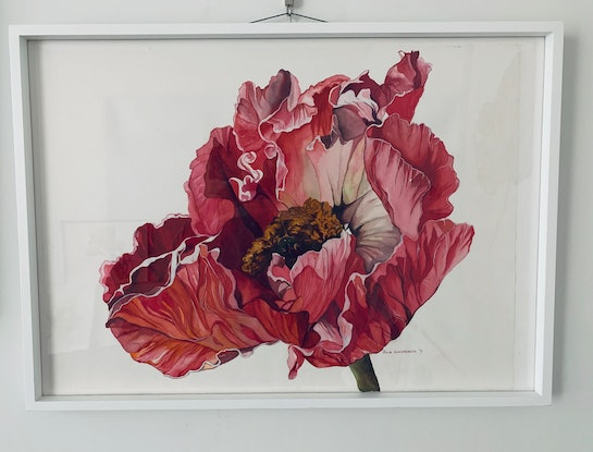 (CreativeWork) In Full Bloom by Julie Christensen. Watercolour Paint. Shop online at Bluethumb.