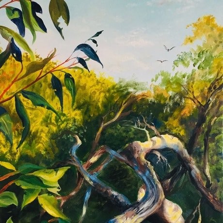 (CreativeWork) The Guardian's Point of View by Cathy Yarwood - Mahy. Oil Paint. Shop online at Bluethumb.