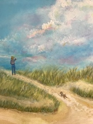 (CreativeWork) Wait For Me by Jackie Peach. Acrylic Paint. Shop online at Bluethumb.