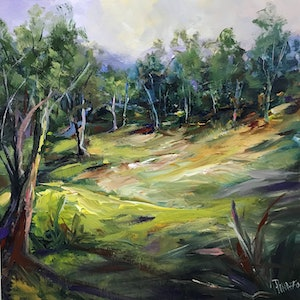 (CreativeWork) INTO THE WILDERNESS by Ivana Pinaffo. acrylic-painting. Shop online at Bluethumb.