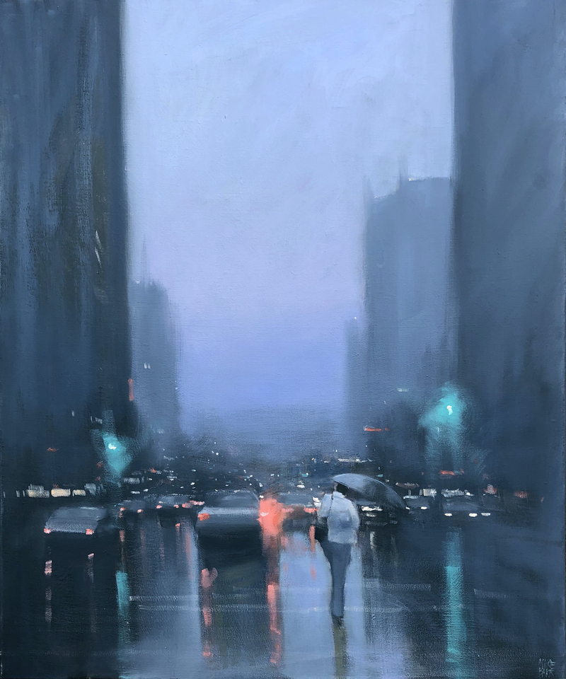 (CreativeWork) Grenfell Street Showers - rainy cityscape by Mike Barr. #<Filter:0x00007fc6dcaca148>. Shop online at Bluethumb.