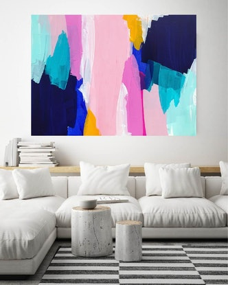(CreativeWork) Here Comes The Sun by Maggi McDonald. Acrylic Paint. Shop online at Bluethumb.
