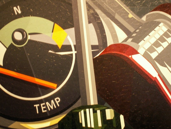 (CreativeWork) Temp  by Colin Madgwick. Oil Paint. Shop online at Bluethumb.