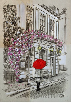 (CreativeWork) A MORNING MONTMARTE WALK by loui jover. Drawings. Shop online at Bluethumb.