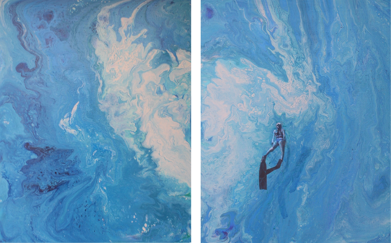 (CreativeWork) Emergence from below by Tina Dawes. Acrylic Paint. Shop online at Bluethumb.