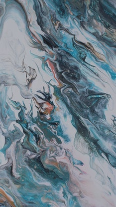 (CreativeWork) Fire and Ice flows by Tina Dawes. Acrylic Paint. Shop online at Bluethumb.