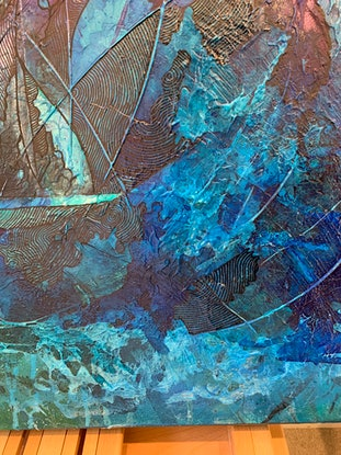 (CreativeWork) Through the storm by Tharie .. Acrylic Paint. Shop online at Bluethumb.