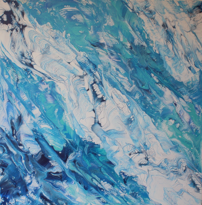 (CreativeWork) Ice and waves by Tina Dawes. Acrylic Paint. Shop online at Bluethumb.