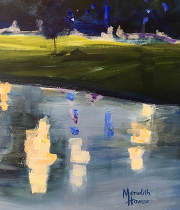 (CreativeWork) Yarra Yarra by Meredith Howse. Acrylic Paint. Shop online at Bluethumb.