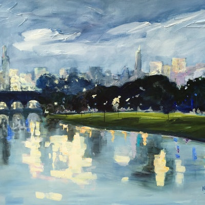 (CreativeWork) Yarra Yarra by Meredith Howse. acrylic-painting. Shop online at Bluethumb.
