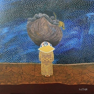 (CreativeWork) Delayed Grief by Helen Shadforth. Acrylic Paint. Shop online at Bluethumb.