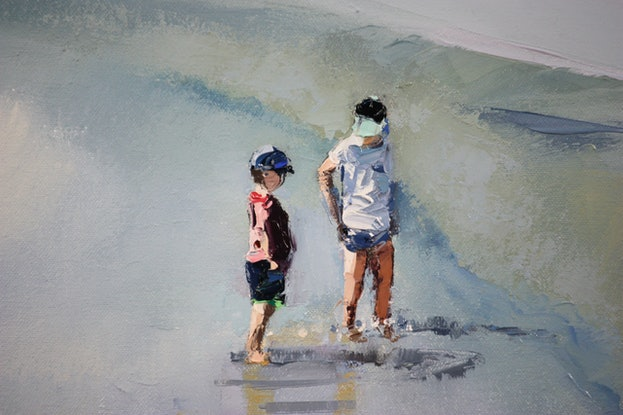 (CreativeWork) Commission Painting #4 by Claire McCall. Oil Paint. Shop online at Bluethumb.