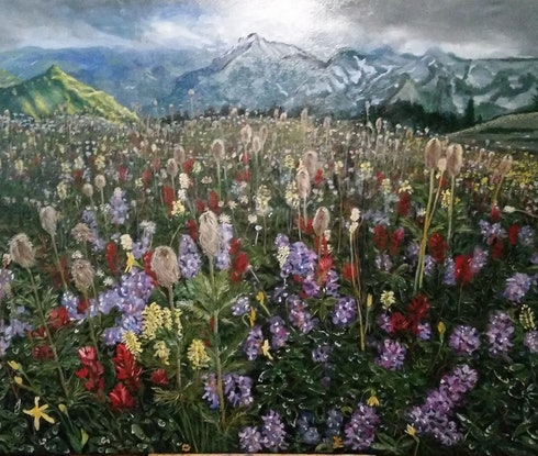 (CreativeWork) A Place Called Paradise by ALAN HEATHER-XIA. Oil Paint. Shop online at Bluethumb.