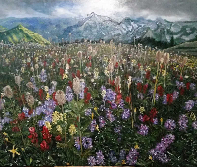 (CreativeWork) A Place Called Paradise by ALAN HEATHER-XIA. oil-painting. Shop online at Bluethumb.