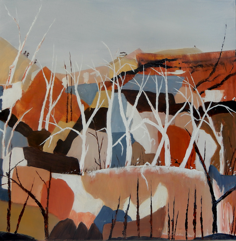 (CreativeWork) Ghost Gum Ridge by Doodie Herman. arcylic-painting. Shop online at Bluethumb.