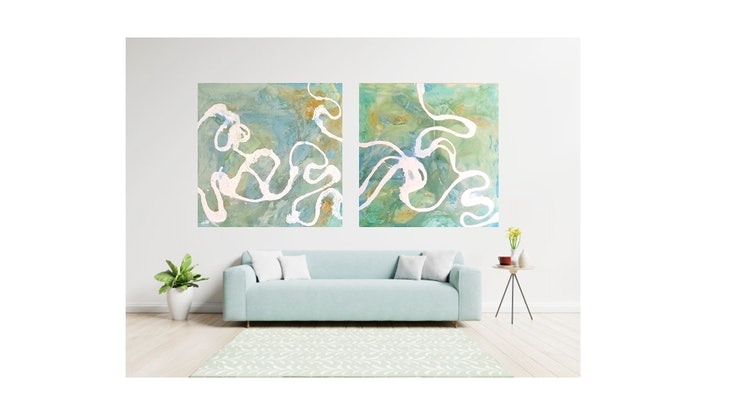 (CreativeWork) Surreal Feeling 11 by Bec Long. Acrylic Paint. Shop online at Bluethumb.