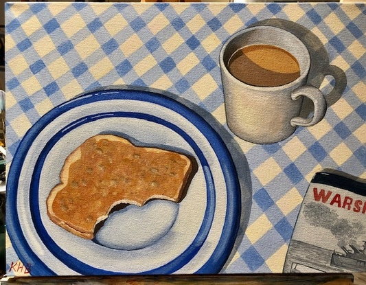 (CreativeWork) Breakfast by Kay H Bowman. Acrylic Paint. Shop online at Bluethumb.