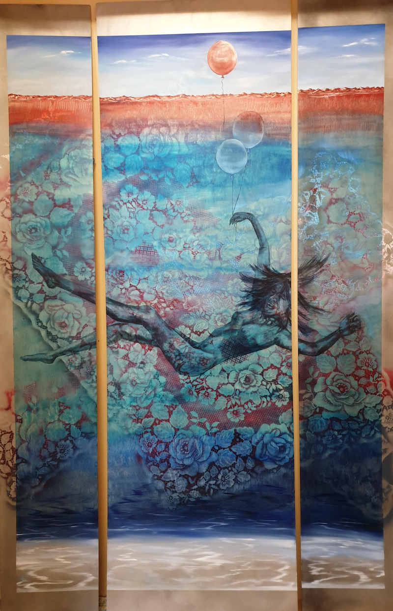 (CreativeWork) Drift by Suzy French. Oil Paint. Shop online at Bluethumb.
