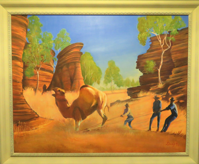 (CreativeWork) The Camel Catchers by Rob Davis. Oil Paint. Shop online at Bluethumb.
