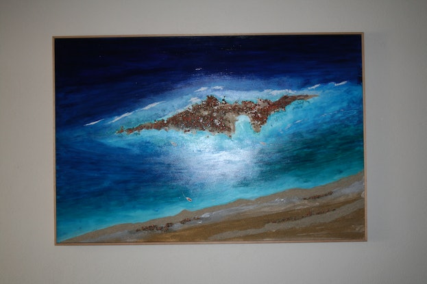 (CreativeWork) Island shelter by Andrew Demaine. Mixed Media. Shop online at Bluethumb.