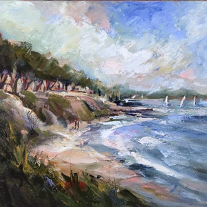 (CreativeWork) ST LEONARDS (Victoria) by Ivana Pinaffo. acrylic-painting. Shop online at Bluethumb.
