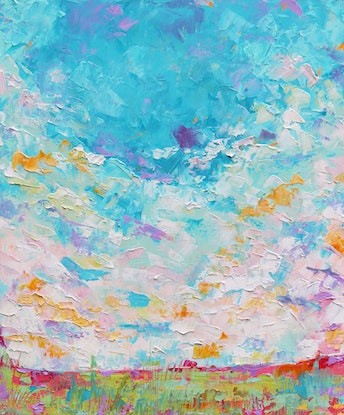 (CreativeWork) Abstract Landscape 3 by Eve Izzett. Oil Paint. Shop online at Bluethumb.