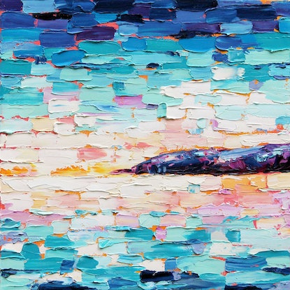 (CreativeWork) Abstract Landscape 4 by Eve Izzett. Oil Paint. Shop online at Bluethumb.